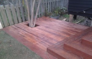 Wooden decking example